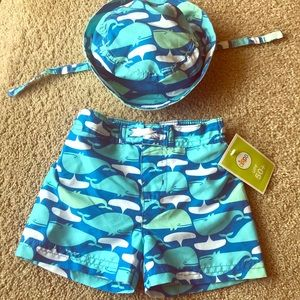 Other - Infant Swim Trunks with Matching Swim Hat 6-9M